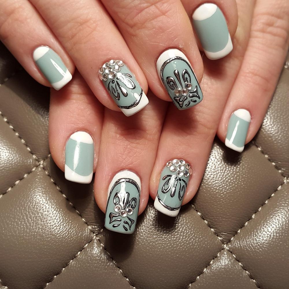 Дизайн ногтей гель лаком литье